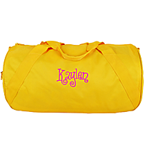 Bright Yellow Barrel-Sided Duffle Bag #8805-03-BRTYELLOW