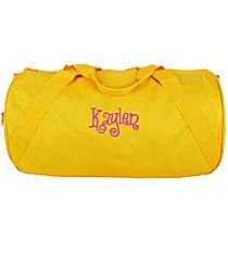 Bright Yellow Barrel-Sided Duffle Bag #8805-03-BRTYELLOW