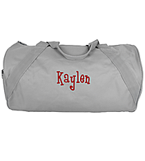 "18"" Grey Barrel-Sided Duffle Bag #8805 GREY"