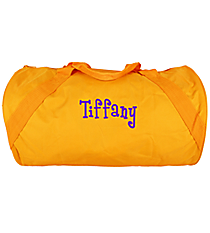 Golden Yellow Barrel-Sided Duffle Bag #8805-05-GLDYELLOW