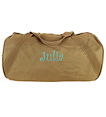 Khaki Barrel-Sided Duffle Bag #8805-26-KHAKI