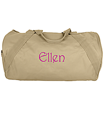 "18"" Light Tan Barrel-Sided Duffle Bag #8805-LTAN"