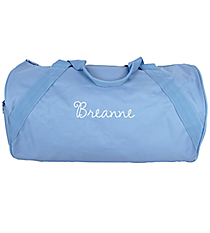 Light Blue Barrel-Sided Duffle Bag #8805-19-LTBLUE