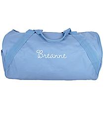 Light Blue Barrel-Sided Duffle Bag #8805-19-LTBLUE