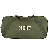 "18"" Olive Barrel-Sided Duffle Bag #8805-OLIVE"