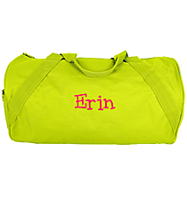 "18"" Safety Green Barrel-Sided Duffle Bag #8805 SAFETYGREEN"