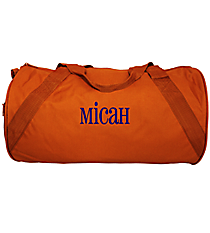 Burnt Orange Barrel-Sided Duffle Bag #8805-07-BTORANGE