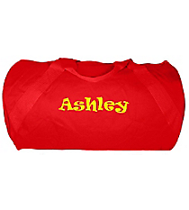 "18"" Red Barrel-Sided Duffle Bag #8805-RED"