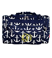 "20"" Navy with White Anchors Duffle Bag #DDT420-NAVY"