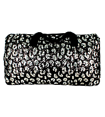 "21"" Black and Silver Sequined Duffle Bag #REQ592-BLACK"
