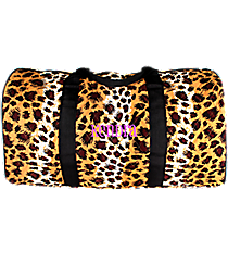 "21"" Leopard Quilted Duffle Bag with Black Trim #RP2626-BLACK"