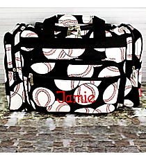 "17"" Baseball Duffle Bag #SKQ417-BLACK"