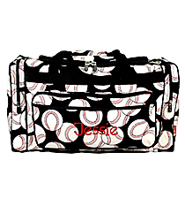 "20"" Baseball Duffle with Black Trim #SKQ420-BLACK"