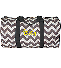 "21"" Gray Chevron Quilted Duffle Bag with Gray Trim #ZIG2626-GRAY"