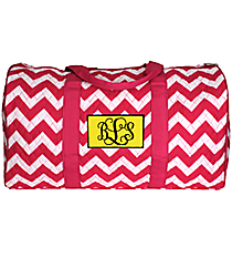 "21"" Hot Pink Chevron Quilted Duffle Bag #ZIH2626-HPINK"