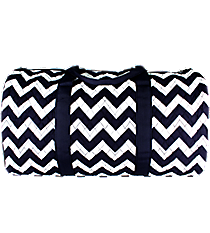 "21"" Navy Chevron Quilted Duffle Bag #ZIN2626-NAVY/WH"