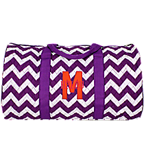 "21"" Purple Chevron Quilted Duffle Bag #ZIP2626-PURPLE"