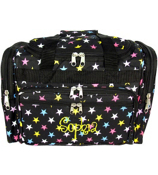"Black with Multi-Color Stars 16"" Duffle Bag #T16-588"