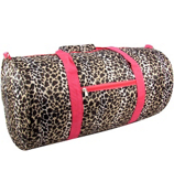 Leopard with Pink Trim Roll Duffle Bag #SD-2008-P