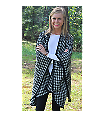 Black and Gray Houndstooth Wrap #EACP8118-GE