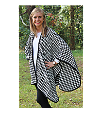 Black and White Houndstooth Wrap #EACP8118-WT