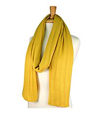 Mustard Long Knit Scarf #EANT8102-MU