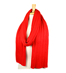 Red Long Knit Scarf #EANT8102-RD