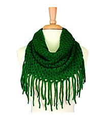 Green Open Weave Knit Mini Tube Scarf #EANT8104-GN
