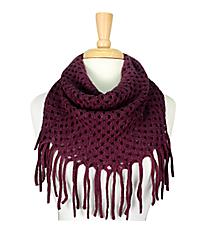Purple Open Weave Knit Mini Tube Scarf #EANT8104-PP