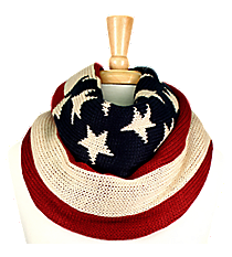 American Flag Knit Infinity Scarf #EANT8210-US