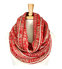 Red Multi-Stripe Infinity Scarf #EANT8219-RD
