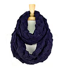 Navy Knit Ripples Scarf #EANT8227-NV