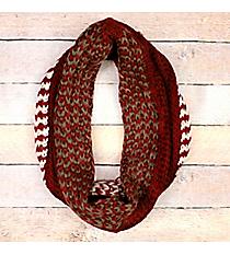 Hazy Waves Burgundy Knit Infinity Scarf #EANT8485-BU