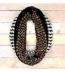 Hazy Waves Navy Knit Infinity Scarf #EANT8485-NV
