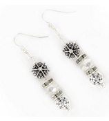 Dangling Snowflake Earrings #AE0742-AS