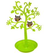 Green Tree with Owls Jewelry Holder #68410