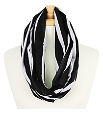 Black Striped Infinity Scarf #EASC7395-BK