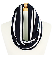 Navy Striped Infinity Scarf #EASC7395-NV