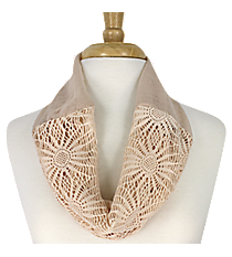 Beige Sunflower Mini Tube Scarf #EASC8066-BE