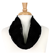 Black Sunflower Mini Tube Scarf #EASC8066-BK