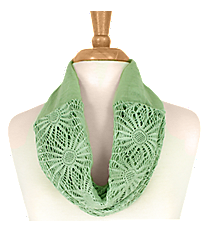 Mint Green Sunflower Mini Tube Scarf #EASC8066-MT
