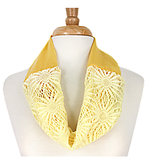 Yellow Sunflower Mini Tube Scarf #EASC8066-YE