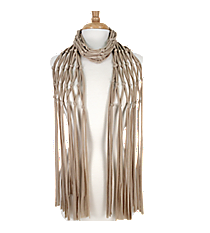 Beige Open Weave Knotted Jersey Scarf #EASC8067-BE