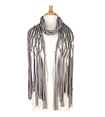 Grey Open Weave Knotted Jersey Scarf #EASC8067-GE