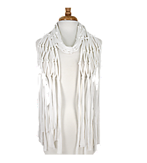 White Open Weave Knotted Jersey Scarf #EASC8067-WT