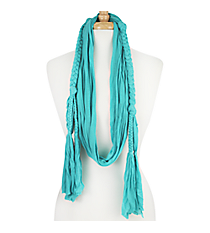 Mint Braided Jersey Scarf #EASC8068-MT