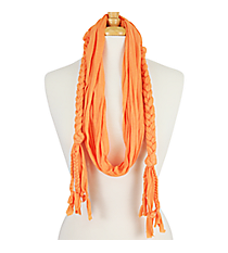 Orange Braided Jersey Scarf #EASC8068-OR