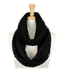 Black Lace Chevron Infinity Scarf #EASC8074-BK