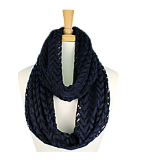 Navy Lace Chevron Infinity Scarf #EASC8074-NV