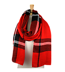 Red Plaid Long Scarf #EASC8124-RD
